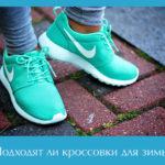 Подходят ли кроссовки для зимы?