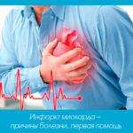 Инфаркт миокарда – причины болезни, первая помощь
