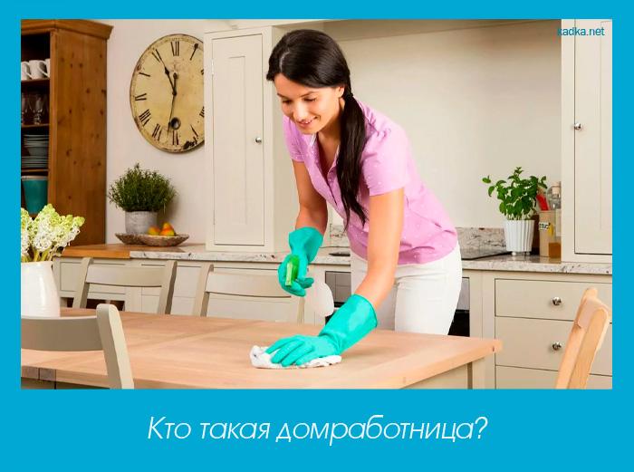 Кто такая домработница?